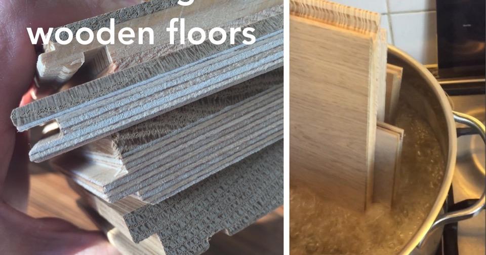 Boiling wooden floors